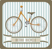 Bicicleta retro vintage — Vetorial Stock