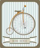 Vintage Retro Bicycle — Stock Vector