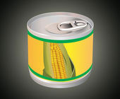 Corn can — Stock Vector