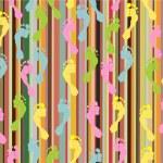 Footprint seamless pattern — Stock Vector