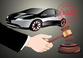 Sold the car — Stock Vector