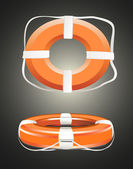 Red life buoy. — Stock Vector