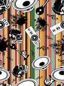 бесшовный паттерн фоновой музыки — Cтоковый вектор