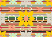 Seamless pattern from abstract flowers — Stock Vector