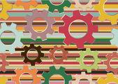 Seamless texture with mechanical gear — Vetor de Stock