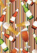 Beer bottles white light beer mug.seamless pattern — Stock Vector