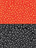 Uova di pesce arancione e nero — Vettoriale Stock