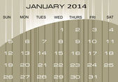 Calendar January 2014 — Stock Vector