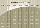 Calendar March 2014 — Stock Vector