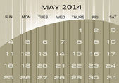 Calendar May 2014 — Stock Vector