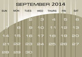 Calendar September 2014 — Stock Vector