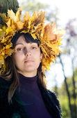 Woman in autumn fashion — Stock Photo
