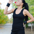 Athletic woman drinking water — Stock Photo #15485711