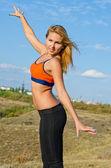 Привлекательные блондинка спортсменка — Стоковое фото