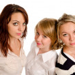 Three beautiful young women — Stock Photo