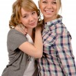 Two happy young women — Stock Photo