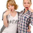 Girlfriends mocking — Stock Photo #18112939