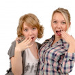 Girlfriends mocking — Stock Photo #18112953
