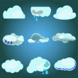 Vector clouds collection — Stock Vector