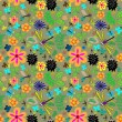 Royalty-Free Stock Immagine Vettoriale: Butterflies and dragonflies floral pattern