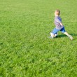 Little boy playing soccer — Stock Photo #19777149