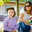 Mutter und Sohn am Muttertag — Stockfoto