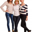 Three happy female companions — Stock Photo