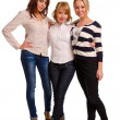 Stock Photo: Three beautiful young women
