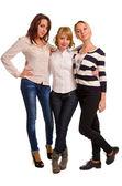 Three happy female companions — Stock Photo
