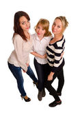 Three sexy young women — Stock Photo