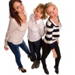 Three trendy female friends — Stock Photo #20756807