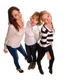 Three trendy female friends — Stock Photo