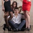 Постер, плакат: Three women and one guy