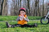 Sevimli küçük bir çocuk — Stok fotoğraf