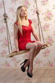 Blond woman — Foto Stock