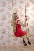 Jeune femme blonde — Photo