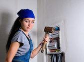 Female electrician — Stock Photo