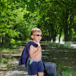 Stock Photo: Child with baggage
