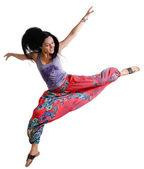 Agile young woman dancing — Stock Photo