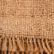 Piece of burlap with a fringe — Stockfoto