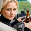 Aggressive drunk womdriver — Stock Photo #31968279