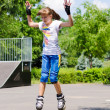 Young teenage girl in a skate park — Stock Photo