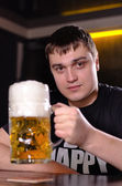 A very large litre tankard of beer — Stock Photo