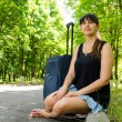 Woman going on summer vacation — Stock Photo #37965713