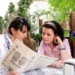 Two women having a meeting outdoors — Stock Photo #39236829