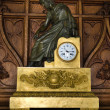 Stock Photo: Antique gilt metal and bronze mantle clock