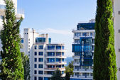 Apartment buildings in a tropical resort — Stock Photo