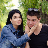 Affectionate attractive young couple — Stock Photo