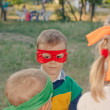 Young boy playing at a kids birthday party — Stock Photo