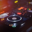 Disc Jockey mixing deck and turntables — Stock Photo #43358243